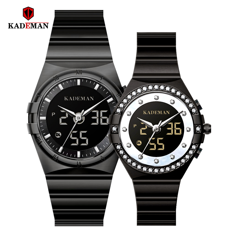 Kademan Genuine Luxury Brand Steel Watch Men Women Couple Quartz Watches Slim Stylish Table Waterproof K9079