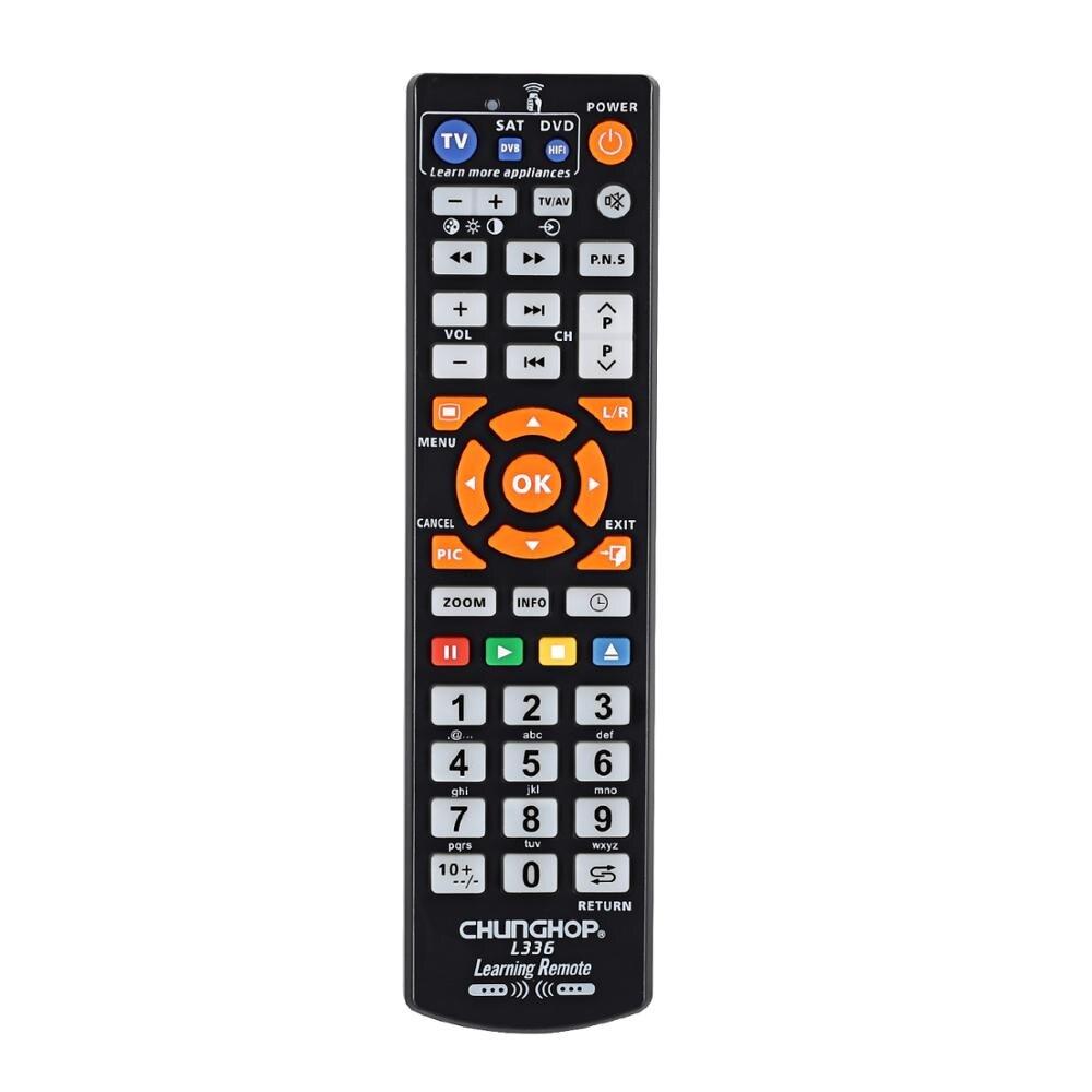 Copie télécommande intelligente avec fonction d'apprentissage pour TV CBL DVD SAT étui d'apprentissage Original chunghop L336