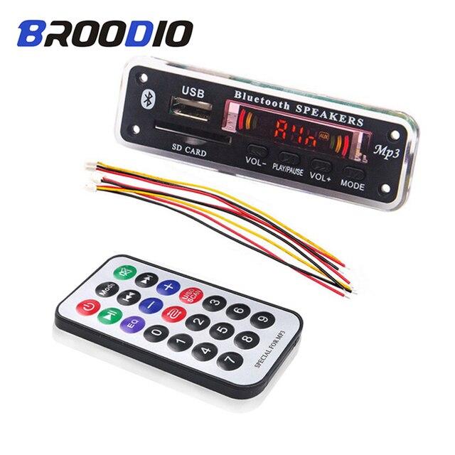 אלחוטי Bluetooth 5V 12V MP3 מפענח לוח MP3 אודיו נגן מודול תמיכה USB SD AUX FM אודיו רדיו מודול עבור אביזרי רכב