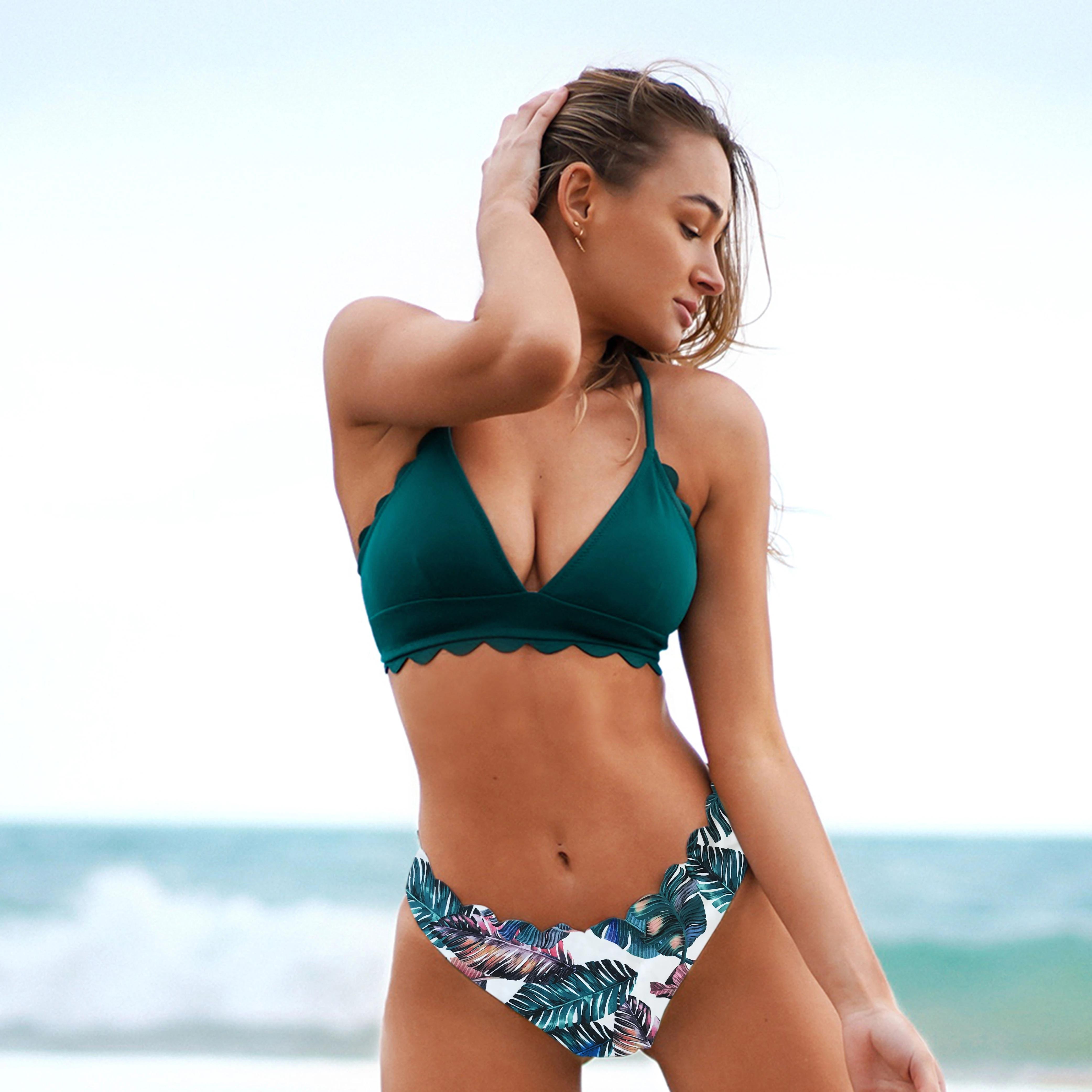 Ruffle Bikini Set Push Up Bathing Suit Women Bandage Swimsuit Brazilian Swimwear