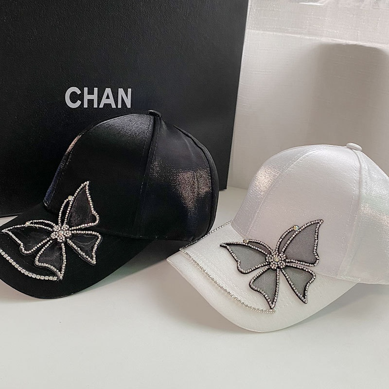 Women Hats Baseball Cap Ponytail Hats for Women Fashion Outdoor Sport Baseball Caps Butterfly Rhinestone Sun Hat Designer Hat