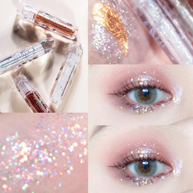 Faey алмазные жидкие тени для век, лежа шелкопряда, блестящий порошок, перламутровый блеск, водостойкие блестки, тени для век, макияж TSLM2