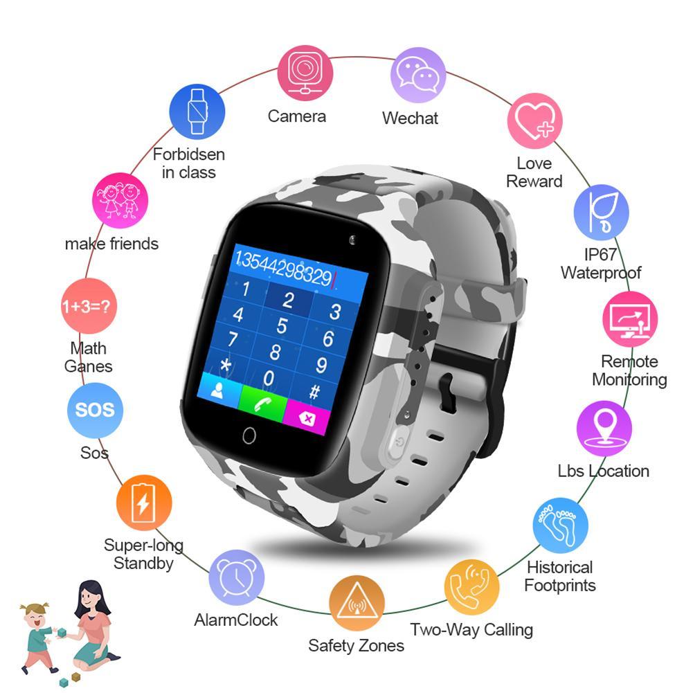Smart Watch Kids GPS WiFi 600mAh Battery Baby Smartwatch IP67 Waterproof SOS For Children Support Take Video Boys Girls Gift