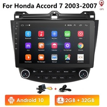 """10.1 """"Android 10.0 Wifi 4G Auto Gps Stereo Radio Voor Honda Accord 2003 2007 + Hd Cam kaart Spiegel Link Dtv Swc Dvr Bluetooth Usb OBD2"""