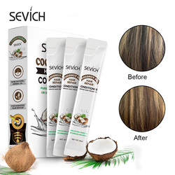 Sevich 10PCS/BOX Coconut Oil Hair Conditioner Repair Dry Damaged Improve Bifurcation Smooth Portable for travelling