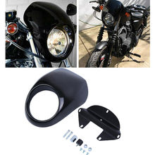 Motorcycle Headlight Cover Mask Headlamp Headlight Fairing Mask Front Cowl 5 3/4 CNC Black For Harley Sportster Dyna 5 75 round headlamp 5 3 4 inch led headlight drl for harley dyna low rider sportster softail breakout sportster superlow
