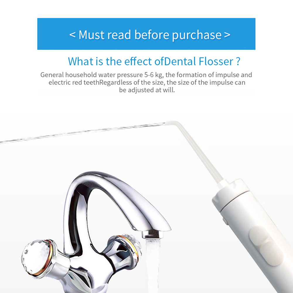 Image 4 - 10 Tips Faucet Oral Irrigator Portable Water Dental Flosser Mouth Wash Water Pick Jet Dental Irrigator For Teeth CleaningOral Irrigators   -