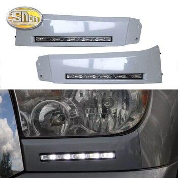 цена на For Toyota Tundra 2007 2008 2009 2010 2011 2012 2013 LED Daytime Running Light Fog Lamp Cover DRL Front Bumper Lights