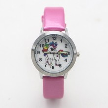 New arrival Fashion Quartz kids cartoon Unicorn Lovely Watch children student gi