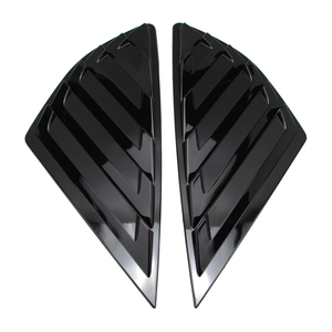 Image 3 - Rear Quarter Side Window Louvers Scoop Cover Vent for Ford Fusion Mondeo 2014 2015 2016 2017 2018 2019 Glossy Black