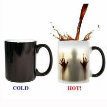 11OZ Magic Color Change Ceramic Cup Heat Sensitive Mug Funny Zombie Mug Temperature Changing Coffee Mug Gift