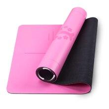Натуральный резиновый коврик для йоги Пилатес принадлежности для йоги 4 мм нетоксичный и без запаха