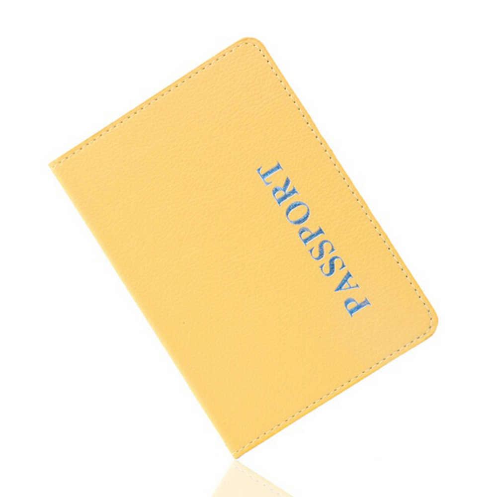 Titolare Del Passaporto di viaggio Della Copertura Della Carta Sul Caso Per delle Donne Degli Uomini di Avventura Porta Passaporte Pasport Funzione Biglietto Da Visita 1PCS