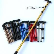 Folding Cane Walking-Stick Hiking-Trekking-Poles Trail Ultralight Adjustable Aluminum-Alloy