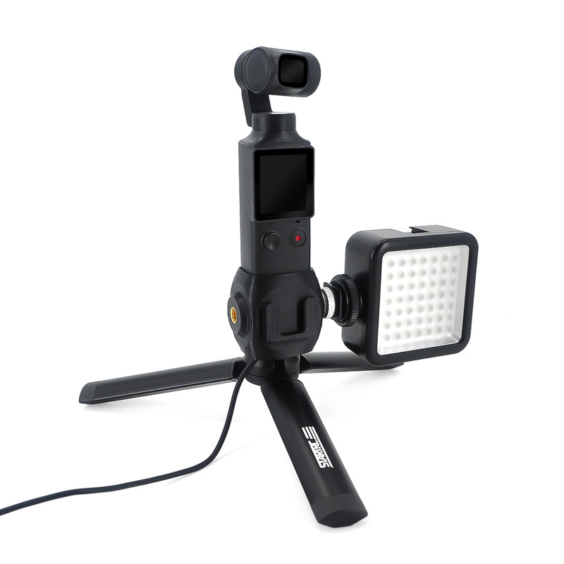 Hot Shoe Mount Adapter 1/4 Screw Adapter Base With Tripod And LED Light For FIMI PALM Camera Handheld Expansion Accessories