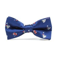 Party-Props Bow-Ties Silky Printed Christmas Mens Classic Deer Holiday Xmas-Tree Festival