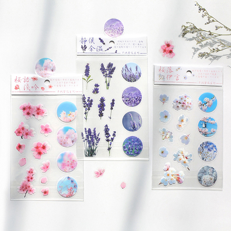 1 Sheet/pack The Season Of Flowers Stickers Set Decorative Stationery Stickers Scrapbooking Diy Diary Album Stick Label