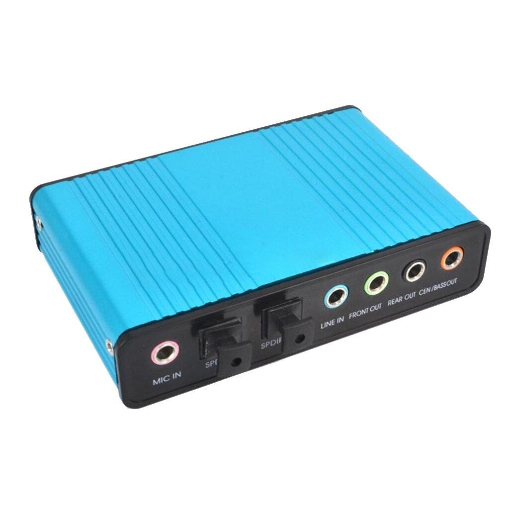 External USB 6 Channel 5.1 / 7.1 Surround External Sound Card PC Laptop Desktop Tablet Audio Optical Adapter Card Converter 2