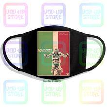 Marco pantani ciclismo campione il pirata cesenatico 3 impressão lavável respirável reutilizável algodão máscara boca
