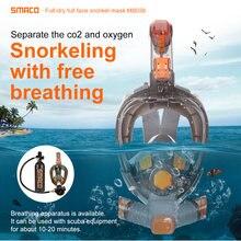 Smaco маска для подводного плавания на все лицо 180 градусов