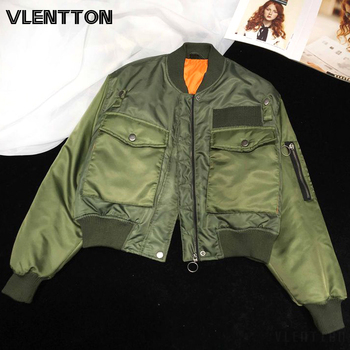 2020 Autumn Winter Women Fashion Bomber Jackets Coat Solid Zipper Short Baseball Outwear Female Tops Casual Loose Overcoats 1