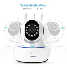 LOOSAFE 1080P 2MP Home Security IP Came Baby Monitor Indoor Network Video Surveillance Night Vision HD Cloud Storage CCTV Camera