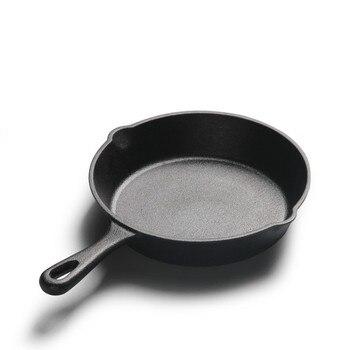 Sartén antiadherente De hierro fundido sin recubrimiento, utensilios De Cocina De estilo...