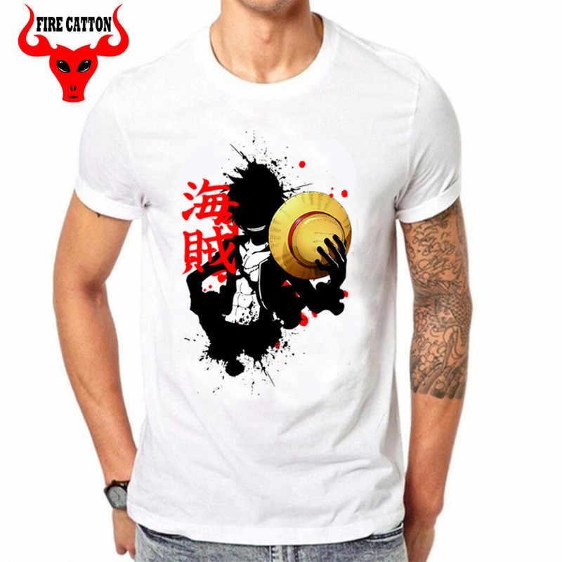 Japão mangá one piece luffy t camisas meninos anime mugiwara pirata rei t-shirt totó tshirt zoro chapéu de palha pirata Pirata kanji t