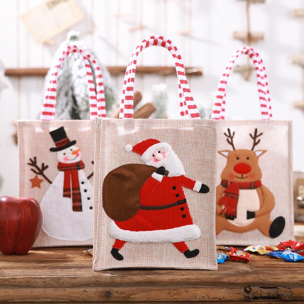 2019 новые подарочные пакеты, детские подарочные пакеты для конфет, ручные сумки Санта Клауса