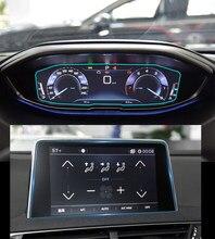 Закаленное стекло для автомобильной навигации, Защитная пленка для ЖК-экрана, наклейка, защита приборной панели для Peugeot 3008 5008 2017 2018, аксессу...