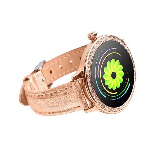 אישה חכם שעון צבע מסך ספורט Tracker IP68 עמיד למים לב קצב דם לחץ נקבה פיסיולוגיים תקופת תזכורת