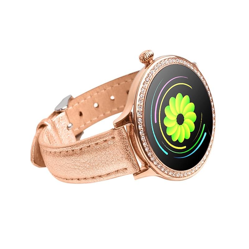 Женские умные часы с цветным экраном, спортивный трекер, водонепроницаемый IP68, пульсометр, кровяное давление, женское напоминание о физиоло...