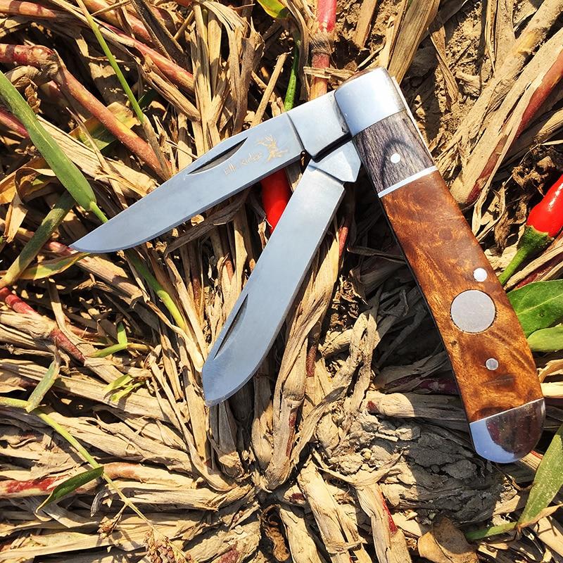 $19.38 WATCHMAN DP007 Slip Joint multi-blade Pocket knife modern tradtional folding knives folder bone material collection
