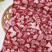 150x50 см хлопчатобумажной ткани детские носки; красивые красные палевый лист с персонажами из мультфильмов для детей, детская одежда юбка Ткань Diy Decorte дома 160 г/м