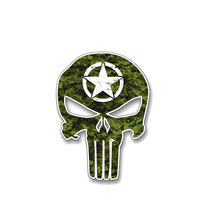 Waterproof Army Skull Star Cover Scratches Color Car Sticker and Decals for  Bumper Window  Accessories Interior KK16*8cm