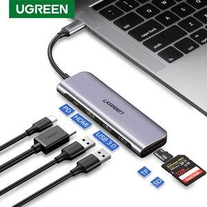 Moyeu USB UGREEN Type C moyeu Multi USB 3.0 adaptateur HDMI Dock pour MacBook Pro Huawei Mate 30 USB-C 3.1 Port de répartiteur Type C HUB