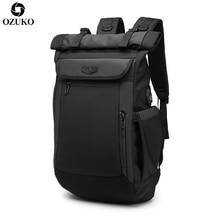 2020 OZUKO 새로운 다기능 남성 배낭 USB 충전 십대 패션 Schoolbag 방수 여행 Mochila la에 대 한 노트북 배낭