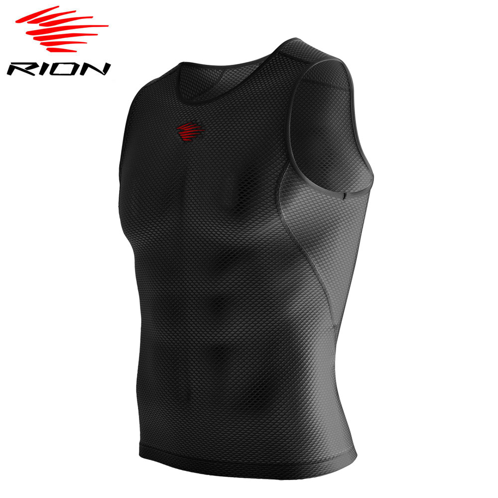 RION Mens Sleeveless Underwear Cycling Vest Base Layer Quick Dry Sports Running Fitness Undershirts Mesh Breathable Active Tops