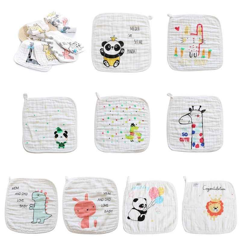 5 قطعة/الحزمة الوليد اللعاب منديل الكرتون نمط الطفل الاطفال منشفة استحمام الشاش القطن منشفة الرضع الساحات