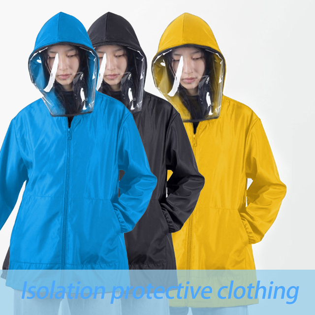 Anti Flu Washable Protective Suit Isolated Clothing Jacket Hat With Mask Waterproof Removable Epidemic Prev Beekeeping Clothes 2