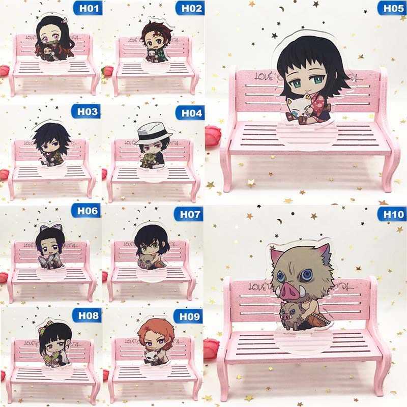 Anime Demon Slayer: Kimetsu ไม่มี Yaiba Kamado Tanjirou Kamado Nezuko คอสเพลย์อะคริลิครูปแผ่นโต๊ะ