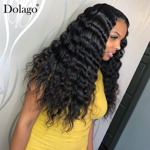 Image 1 - Loose Wave 360 Lace Frontal Wig 250 Density 13x6 Lace Front Human Hair Wigs With Baby Hair Wavy U Part Wig Dolago Remy