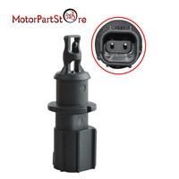 Otomobiller ve Motosikletler'ten Sıcaklık Sensörü'de Siyah plastik emme havası sıcaklık sensörü Fit Chrysler Dodge Jeep Ram için 4606487AA 4606487AB 5S1024 AX109 SU3229 GT7610 930