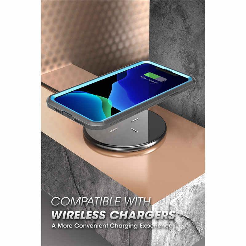 """Para o iphone 11 pro caso 5.8 """"(2019) sucase ub pro corpo inteiro áspero coldre caso capa com built-in protetor de tela & kickstand"""