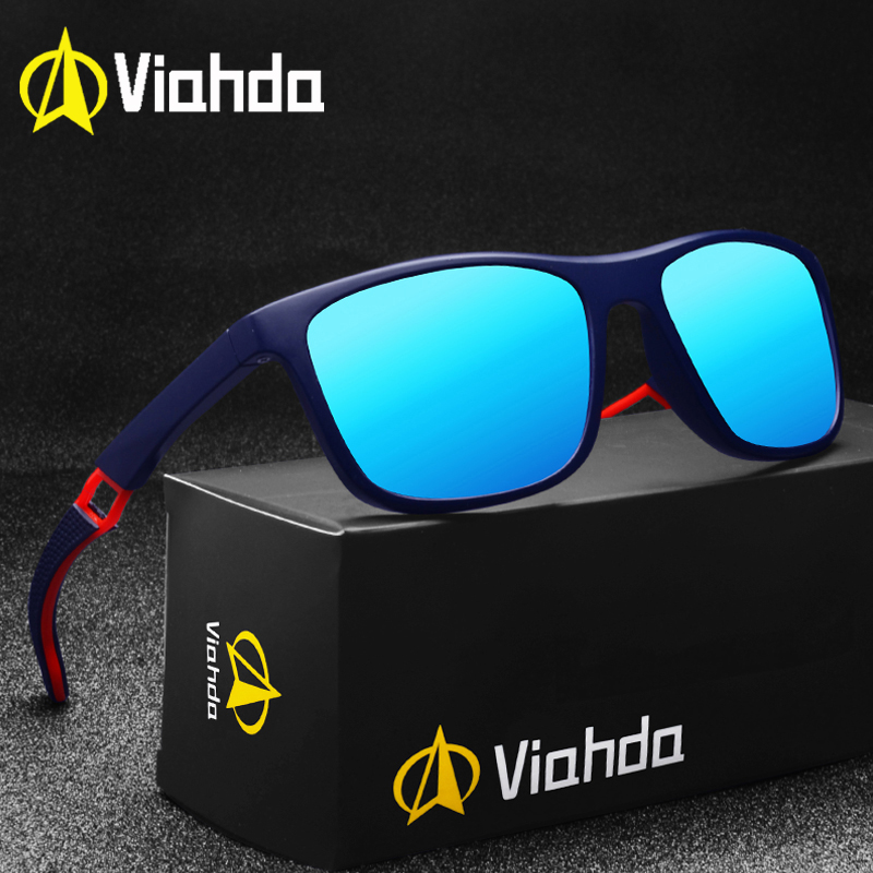 VIAHDA Ultralight TR90 Polarized Sunglasses Men Women Driving Male Sun Glasses Fishing Sport Style Eyewear Oculos GafasMens Sunglasses   -
