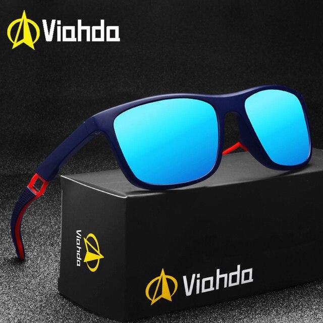 Viahda Siêu Nhẹ TR90 Kính Mát Phân Cực Nam Nữ Lái Xe Nam Kính Chống Nắng Cá Câu Thể Thao Phong Cách Kính Mắt Oculos Gafas
