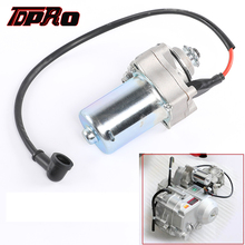 Start Starter Motor 50cc 70cc 90cc 110cc 125cc ATV Quad Bike Top Engine Position goofit electric starter 50cc 70cc 110cc 125cc atv quad dirt bikes go karts 3 bolt top k084 003
