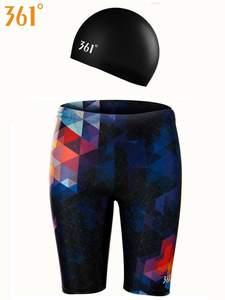 Swim-Pants 361 Briefs Pool with Swimming-Cap Plus Sizetight Shorts Men Male Boys