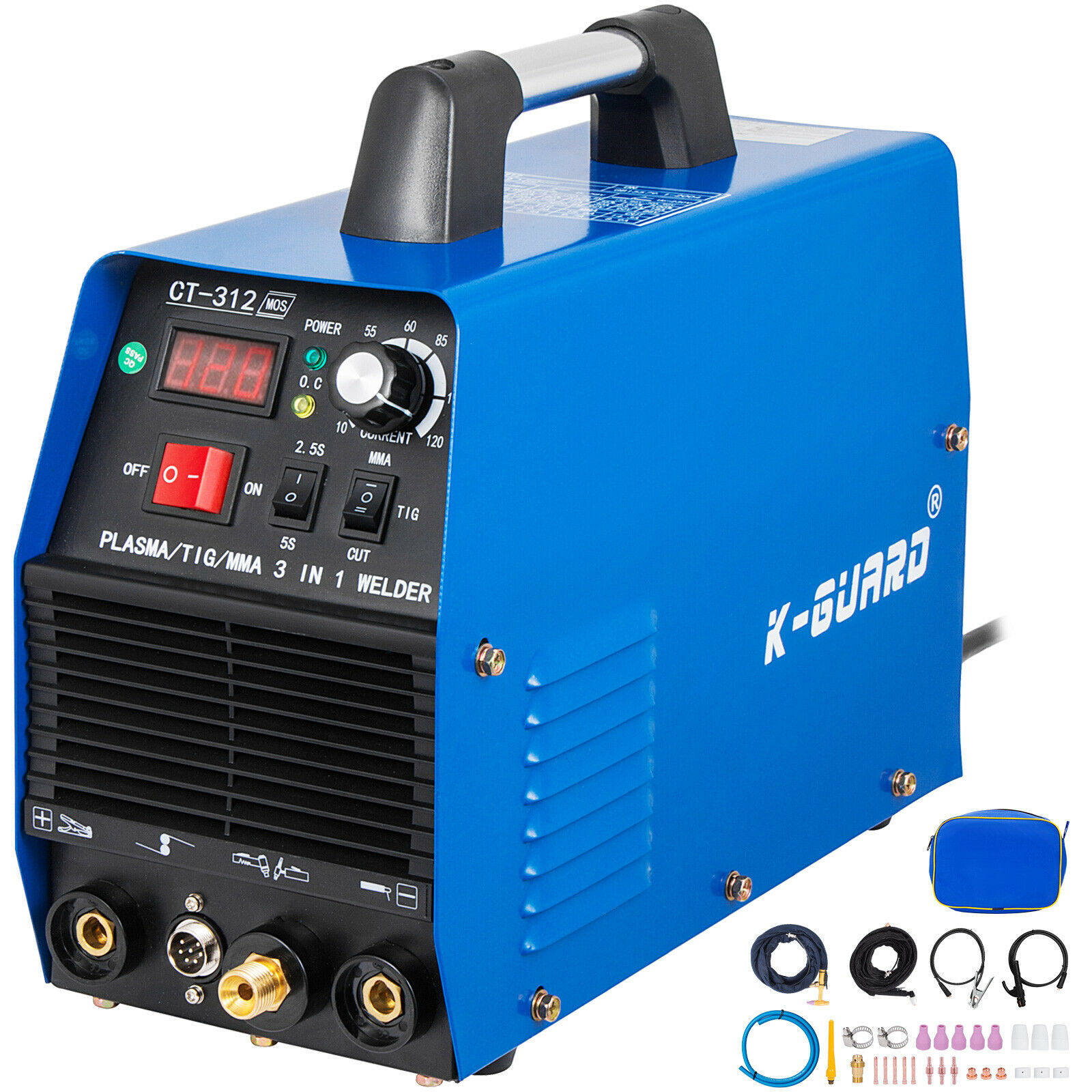 CT312 3IN1 Welding Machine Digital TIG/MMA/ Plasma Cutter Welder & Accessories