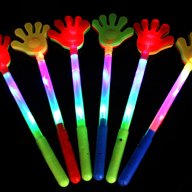 1Pc Flash LED mains Clap lumineux applaudir avec longue main enfants jouets fête Concert fournitures de plein air pour enfants garçons filles cadeaux